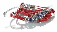 5 Red Evil Eye woman Bracelets STRING Kabbalah Lucky Charm Protection Jewelry