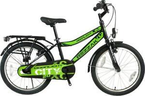 20 Zoll Kinder Fahrrad Jungen Rücktrittbremse RH 33 Schwarz Grün NEU -041