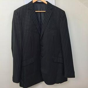 Capelli Italia Polyester Black  Stripe  Blazer Jacket Mens Size UK 44