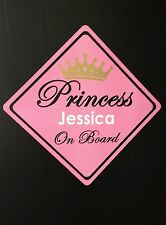 Custom Personalized Name Baby on Board Decal Vinyl Sticker Sign Car Princess Mum