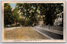 Locust Street in Dover, New Hampshire Strafford County Divided Back Postcard