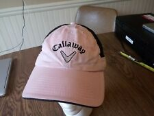 Callaway Golf Hat Ladies Pink Black Mesh Adjustable great gift for mom.ex-cond