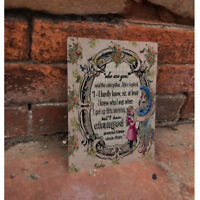 Alice In Wonderland Changed - VINTAGE ENAMEL METAL TIN SIGN WALL PLAQUE