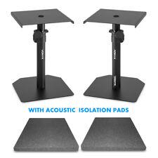 Studio Monitor Stands Adjustable HiFi Speaker Desktop Stands with Acoustic Pads