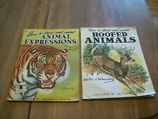 Walter T. Foster How To Draw & Paint Books--Animal Expressions & Hoofed Animals