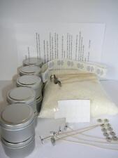1 kg Soy Wax Candle Making Tins Kit  Labels,Wick Tabs,Wicks **Bonus** Stickums