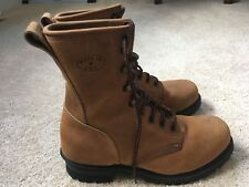 MATTERHORN Men's Leather Logger Work Boots Sz 6 1/2 Wide Made In USA