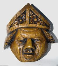 Catholic Bishop Reproduction Medieval Cathedral Carving Pope Mitre Church gift