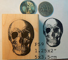 P59 Skull  rubber stamp WM