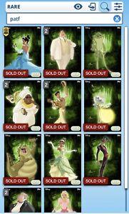 Topps Disney Collect Princess and the Frog Character Full Set + Award *digital