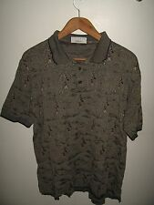 Lacoste Golf Polo - 1990's Preppy Golfer Golfing Course Player Gray Shirt Large