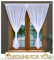 READY MADE WHITE VOILE NET CURTAINS WHITE PIPPING SPECIAL FOR YOU AMAZING!