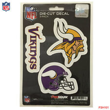 New NFL Minnesota Vikings Team ProMark Die-Cut Decal Stickers 3-Pack