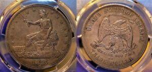 1875 CC Trade Silver Dollar $1 PCGS XF 45