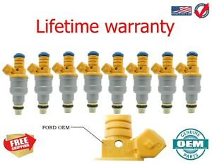 x8 1993 Jeep Grand Wagoneer 5.2L V8 Fuel Injectors Genuine Bosch Replacements