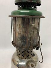 Rare Coleman 220 Instant-Lite Lantern W/ Mica Globe - Feb. 1931 Green W/ Chrome
