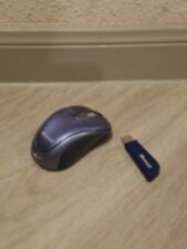 Microsoft Msk-1056 Wireless Mouse-Blue/Gray-Battery Incl.-Tested