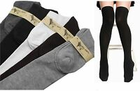 Girls Womens Lady Thigh High Over Knee Cotton Socks Long  Stockings 4-7