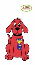 Clifford the Big Red Dog Sticker Vinyl Decal 4 Pack
