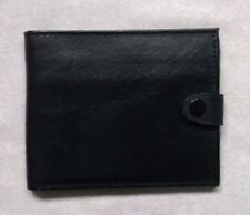 Wallet Vintage Leather BLACK  BI-FOLD CARDS NOTES 1980s 1990s