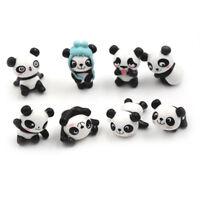 8Pcs Kawaii Panda Action Figures Kids toy Gift Mini PVC Preschool Toy Set NT