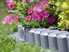 Plastic Garden Fence Panels Boarder Lawn Palisade Edge Patio Fencing GREY AL6