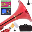 MENDINI Bb TRUMPET ~RED LACQUERED FOR CONCERT BAND +TUNER+STAND+CARE KIT+CASE