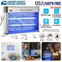 Electric UV Fly Bug Insect Zapper Light 110V 20W Indoor Mosquito Killer Lamp