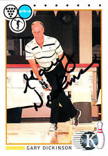 BOWLING Gary Dickinson Hall of Fame HOF 1991 Kingpins SIGNED CARD AUTOGRAPHED