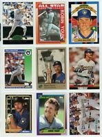 MILWAUKEE BREWERS Hall of Fame Baseball Card Lot - 45 Cards - MOLITOR, YOUNT