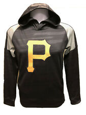 Pittsburgh Pirates Youth Boys Clubhouse Pullover Hooded Sweatshirt - Black