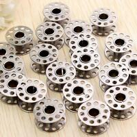 20pcs Sewing Machine Bobbins Stainless Metal For Household Singer 15 Class New