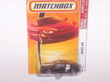 MATCHBOX 2008 RARE BLACK AUDI R 8 SPORTS CAR SERIES #21 NEW IN PACKAGE