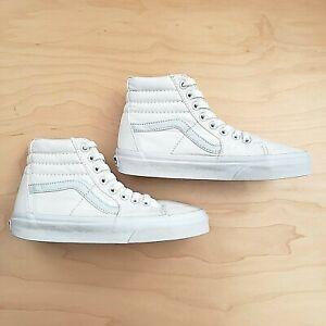 VANS SK8-HI SK8 HI TRUE WHITE HIGH TOP SKATE SNEAKERS SHOES SIZE M4 / W5.5 - EUC