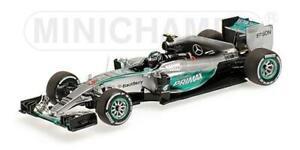 1:43 Minichamps Mercedes W06 Hybrid Nico Rosberg Malaysian Gp 2015 417150006 Mod