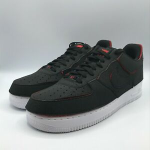 Nike Mens 11.5 Air Force 1/1 Low Black Chile Red Green Shoes Sneakers AF1 1260