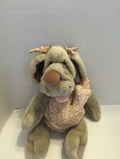 Vtg Wrinkles Ganz Puppet With Bone 1981 Clothing Bows
