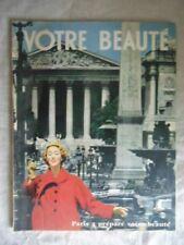 """MAGAZINE """"VOTRE BEAUTE"""" OCT 1955 N°243 / VINTAGE / PUB PARFUM AROME 3 D'ORSAY"""