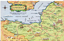 Maps Postcard - Places of Interest in Somerset     MB1757