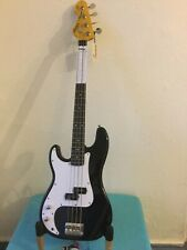 LEFT HAND Bass Guitar Vintage LV4 BK ( PRECISION LH)