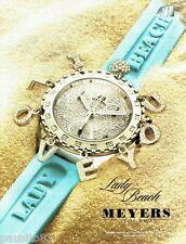 PUBLICITE ADVERTISING 126  2005  Meyers  horloger joailier montre lady beach