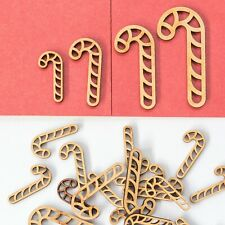 Wooden Mdf Candy Stick Shape 3mm Mdf Craft Tags Embellishments Box Decoration