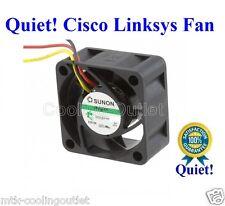 Super Quiet Cisco Linksys SR2024 FAN, 1x new Sunon MagLev fan 12dBA Noise