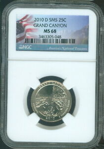 2010-D Grand Canyon National Uncirculated Parks Quarter NGC MS68 SMS Quality ✔️
