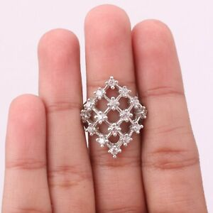 Anniversary Gift For Her Cubic Zirconia Ring Size 5 Silver Jewelry KB14083