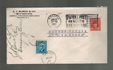 1947 Halifax Canada Cover Ship MS C&E Burke Mail boat Maiden Voyage Signed