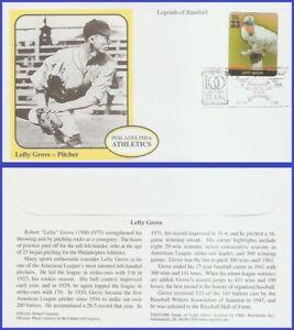 USA5 #3408k U/A MYSTIC FDC Legends of Baseball Lefty Grove