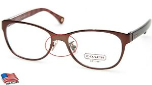 "NEW COACH HC 5039 ASHLYN 9076 SATIN BROWN EYEGLASSES 51-16-135mm B37mm ""READ"""