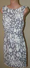 Womens Gorgeous Grey and Ivory Dress - Keepsake - Size L