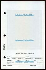 """50 Heco Dealer Sales Sheets ( 5.5"""" x 8.5"""") Style 1, Pocket w/ White Background"""